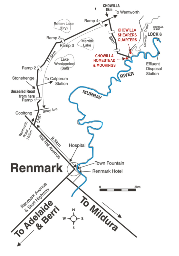 Map Of Australia Murray River.Chowilla Station A Real Aussie Experience On The Murray River And